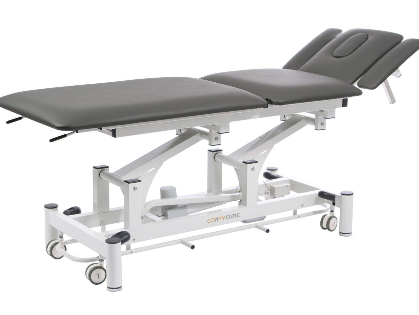 Lettino fisioterapia elettrico 2 snodi in metallo comando perimetrale medicale