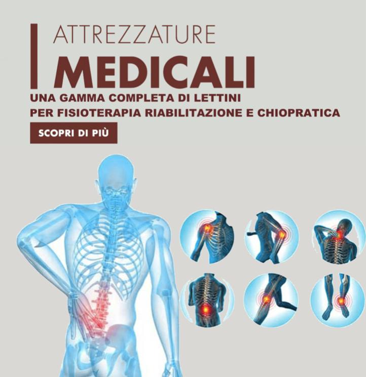 Lettini professionali per Fisioterapia riabilitazione e Chiropratica